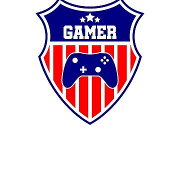 Gamer emblem USA controller by NelloW100