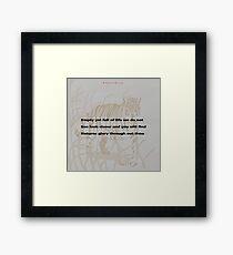 Nature-Haiku Challenge Entry Framed Print