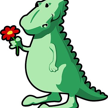 Dino dinosaur with flower by Scirocko