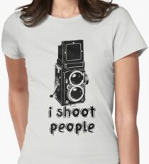 TLR Camera - I Shoot People Photography T Shirt Womens Fitted T-Shirt