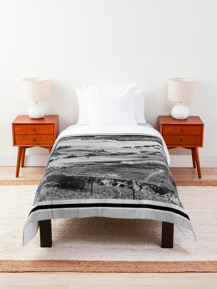 Alternate view of Landing Craft in Normandy France on D-Day June 6 1944 Comforter