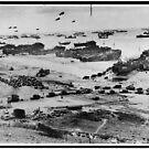 Landung Craft in der Normandie Frankreich am D-Day 6. Juni 1944 von allhistory