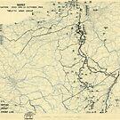 Zwölfte Armeegruppen-Lagekarte des 10. Weltkrieges 10. Oktober 1945 von allhistory