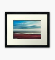 a walk in silence Framed Print