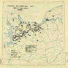 Zwölfter Heeresgruppe Lageplan 30. Juli 1944 von allhistory
