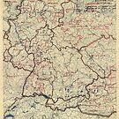 Zwölfter Armeegruppe - Lageplan 24. Juli 1945 von allhistory