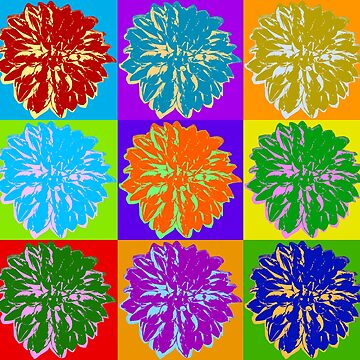 Poster with cornflower in pop art style by anytka