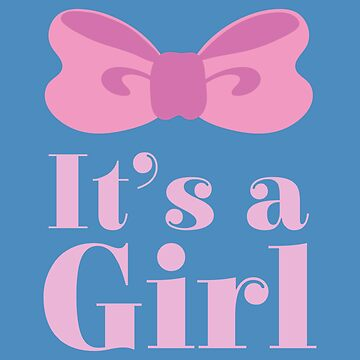Pregnant Its a girl Pink Bow - Gift Idea by vicoli-shirts