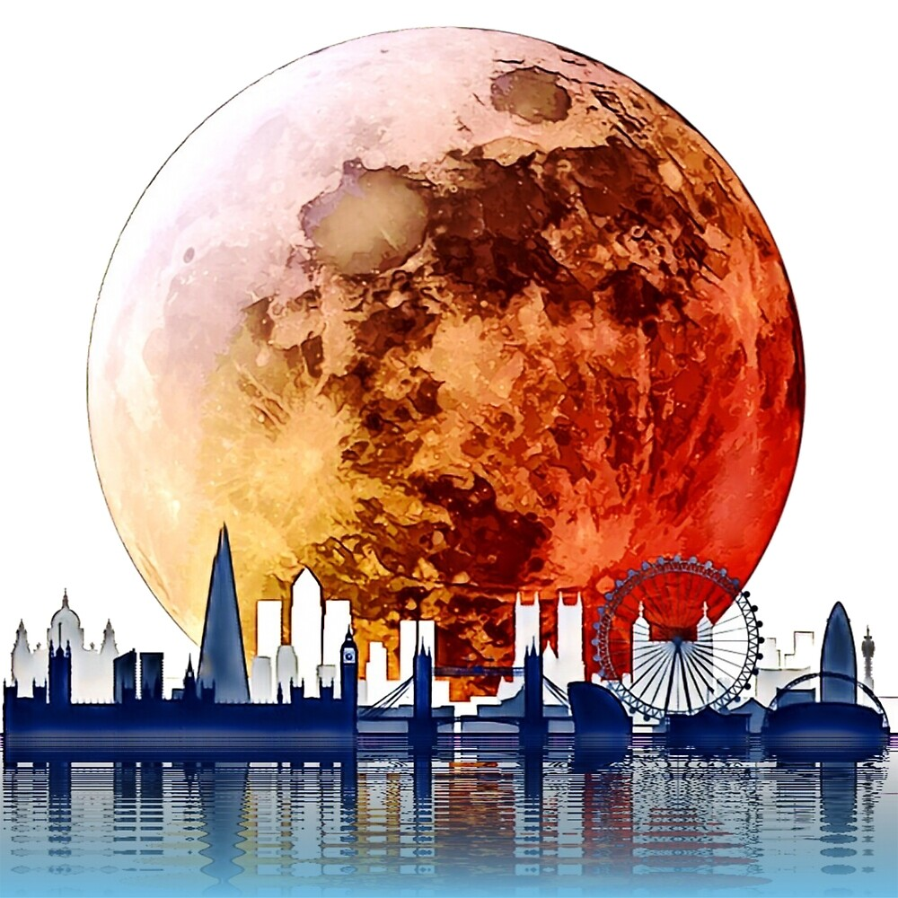 « Blood Moon sur Londres. » par Bo Jones