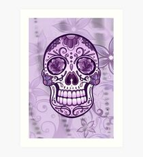 Floral Sugar Skull Totenkopf Totenschädel Day Of The Dead  Kunstdruck