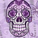Floral Sugar Skull Totenkopf Totenschädel Day Of The Dead  von Christine Krahl
