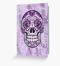 Floral Sugar Skull Totenkopf Totenschädel Day Of The Dead  Grußkarte