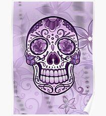 Floral Sugar Skull Totenkopf Totenschädel Day Of The Dead  Poster