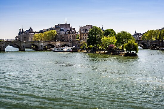 River Seine and The Island by PatiDesigns