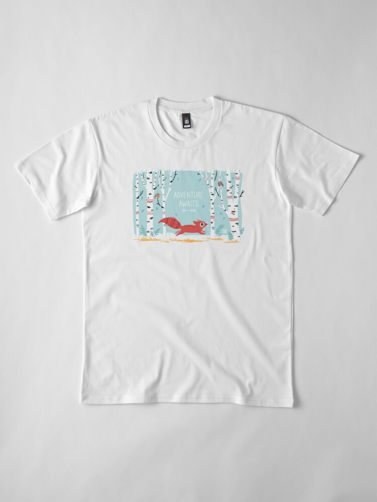 Alternative Ansicht von Das Abenteuer wartet Premium T-Shirt