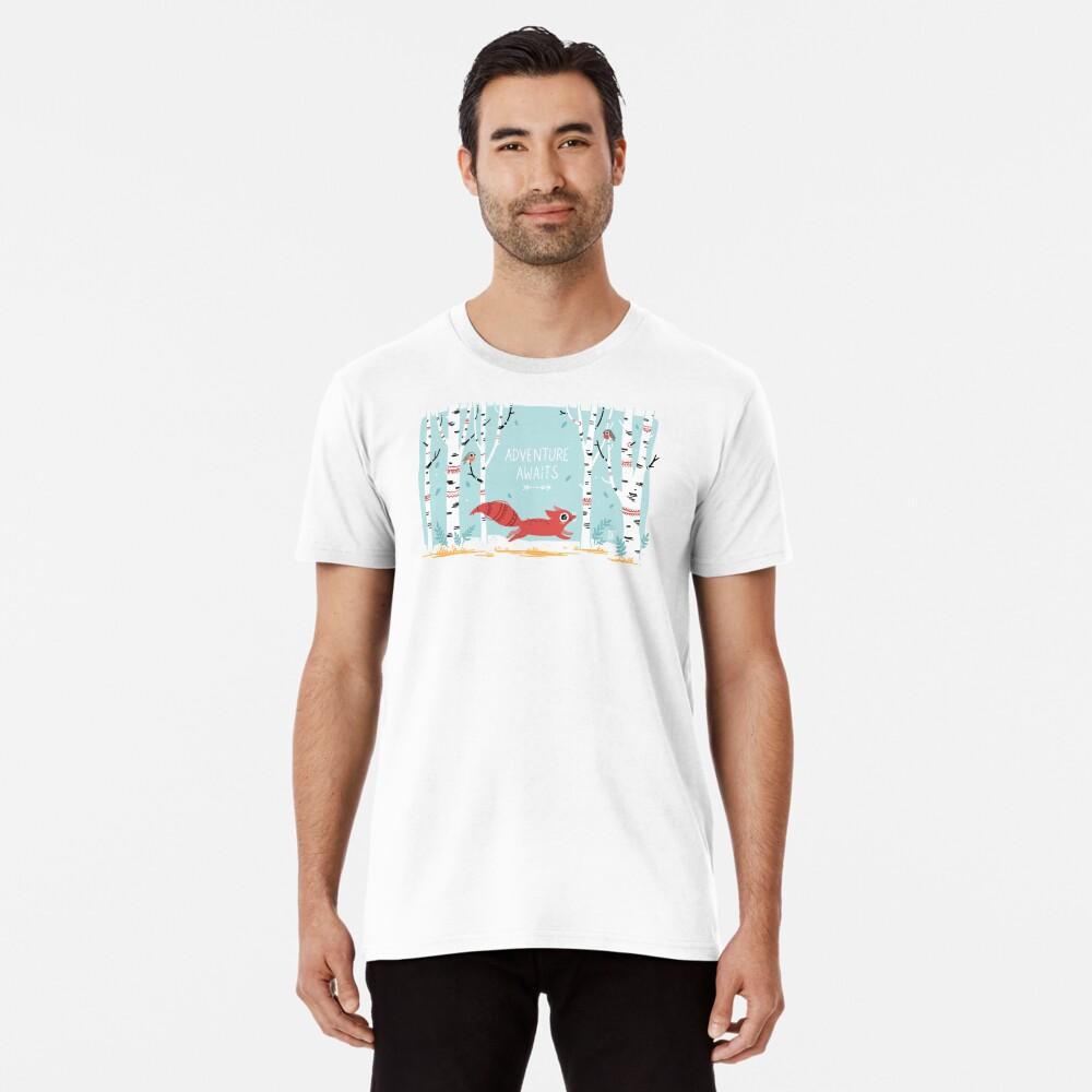Das Abenteuer wartet Premium T-Shirt