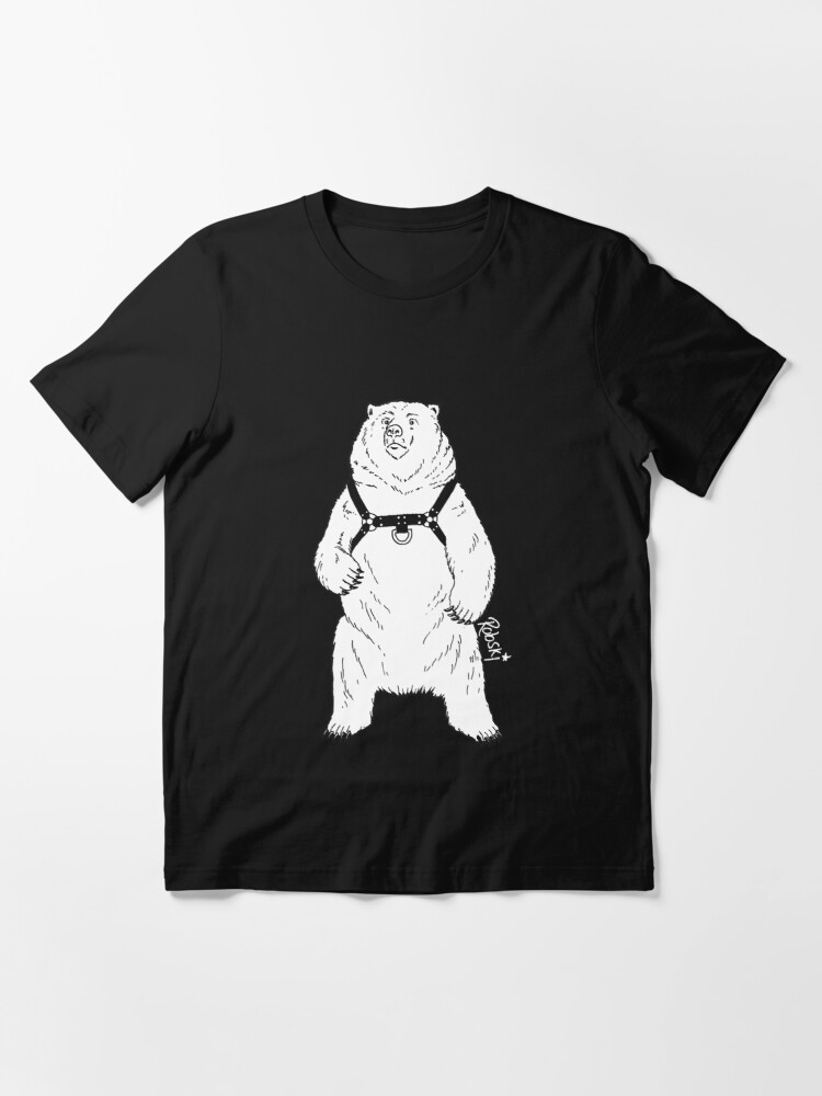 Alternate view of Leather Bear White-out Essential T-Shirt