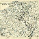 Zwölfter Heeresgruppe Lageplan Januar 11 1945 von allhistory