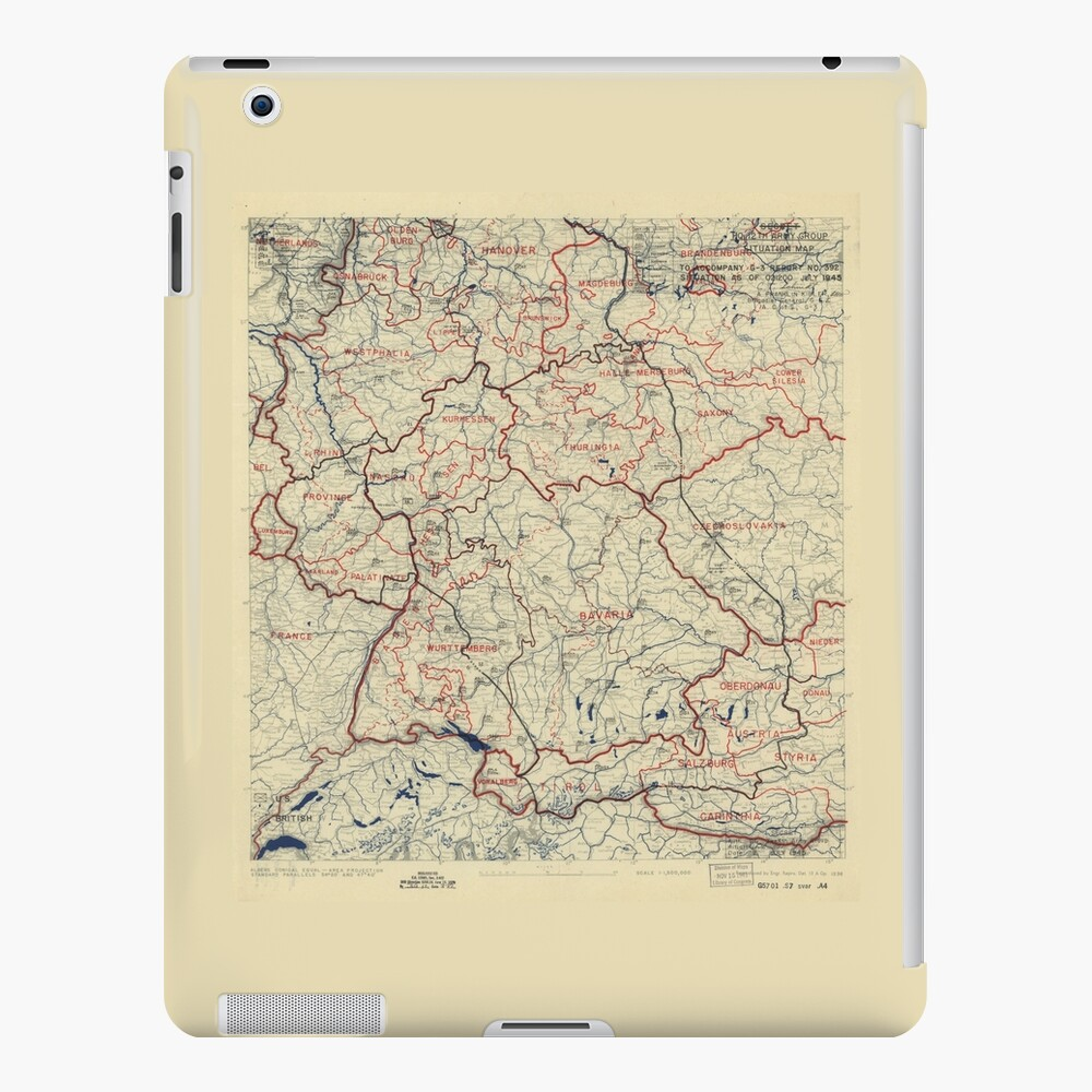 World War II Twelfth Army Group Situation Map July 2 1945 | iPad Case on middle east map 1945, france map 1945, ukraine map 1945, canada map 1945, cambodia map 1945, east asia map 1945, soviet union map 1945, japan map 1945, china map 1945, bessarabia map 1945, india map 1945, united states map 1945, israel map 1945, nazi germany map 1945, europe map 1945, czechoslovakia map 1945, world map 1945, finland map 1945, thailand map 1945, italy map 1945,