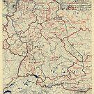 Zwölfter Heeresgruppe Lageplan 2. Juli 1945 von allhistory