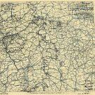 Zwölfter Heeresgruppe Lageplan 8. April 1945 von allhistory