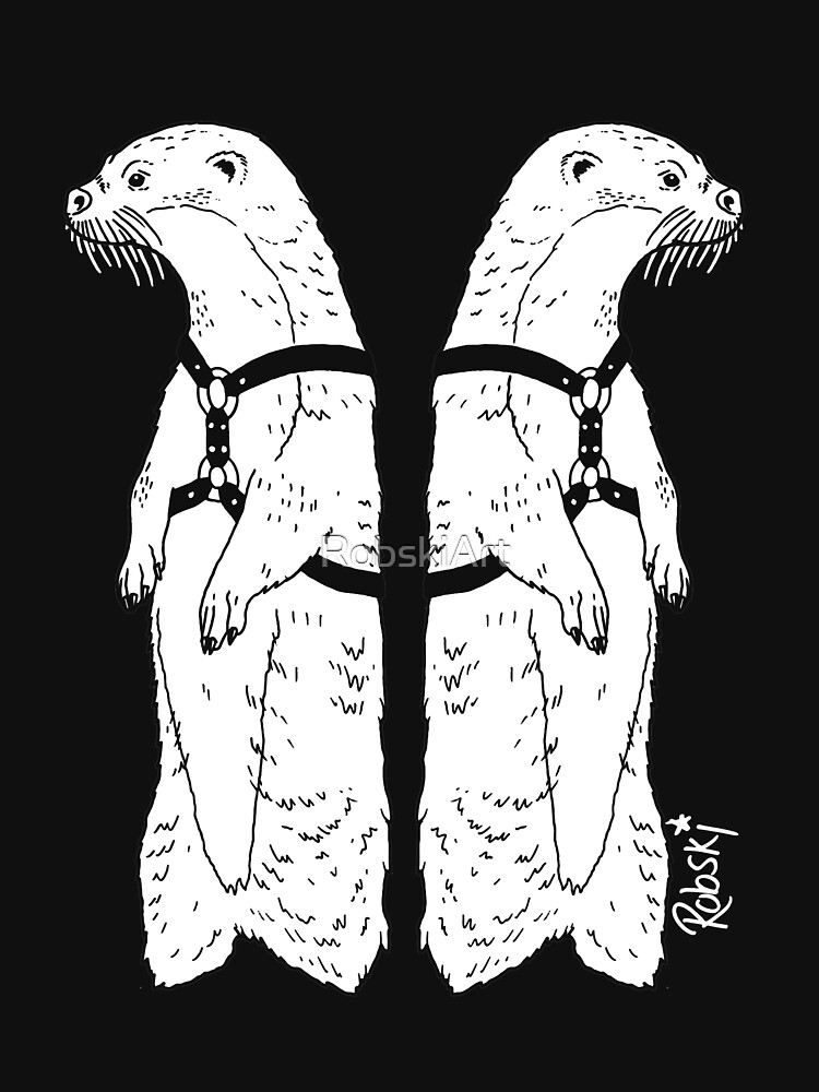 Leather otters by RobskiArt