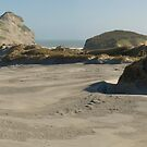 Wharariki Beach Panoramic by Paul Mercer