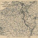 23. Februar 1945 Weltkrieg Zwölfte Armeegruppe Situationskarte von allhistory