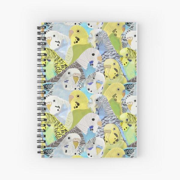 Budgie Parakeets Spiral Notebook