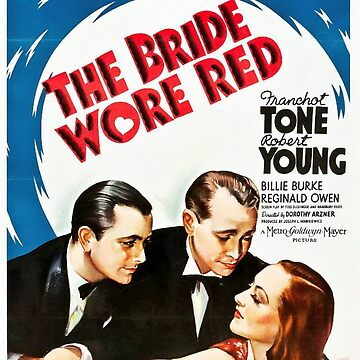Classic Movie Poster - The Bride Wore Red by SerpentFilms
