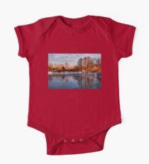 Cold Ice, Warm Light – Lake Ontario Impressions One Piece - Short Sleeve