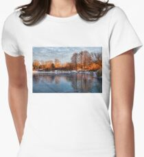 Cold Ice, Warm Light – Lake Ontario Impressions Womens Fitted T-Shirt