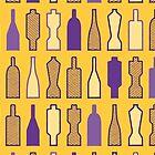 Bottle Wall - Geometric Pattern (Purple and Yellow) by mariomartin