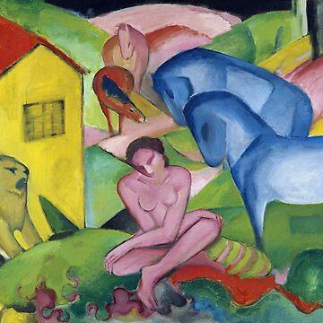 Der Traum, Franz Marc by fourretout