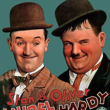 STAN & OLIVER, Laurel and Hardy,  Movie Poster by TOMSREDBUBBLE