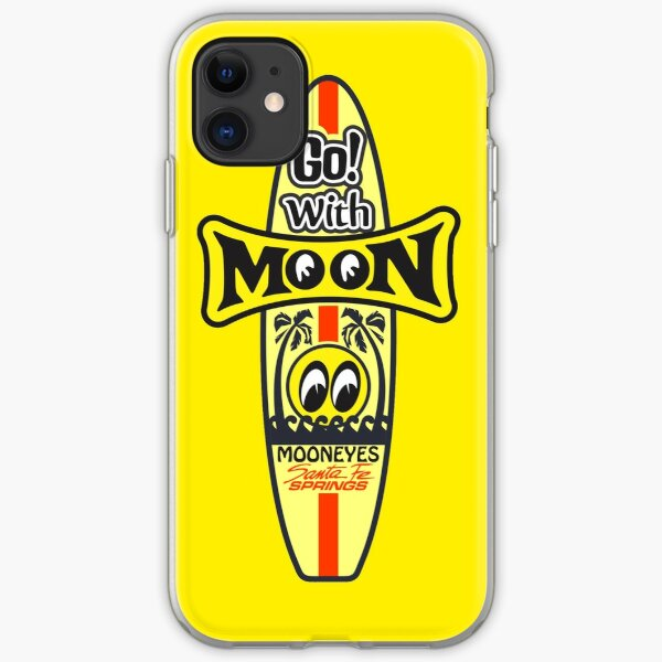 go with moon eyes  iPhone Soft Case