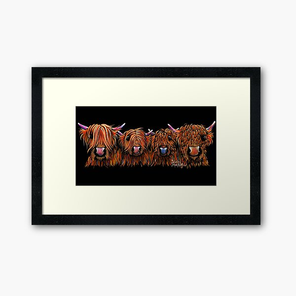 HiGHLaND CoW PRiNT SCoTTiSH ' THe GiNGeR NuTS ' BY SHiRLeY MacARTHuR Framed Art Print