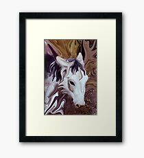 my little donkey Framed Print