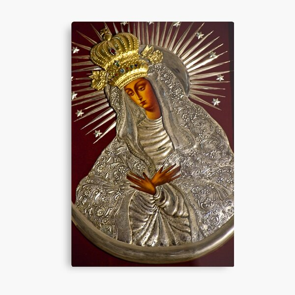Copy of the Holy Mother of Mercy from Vilnius Metal Print