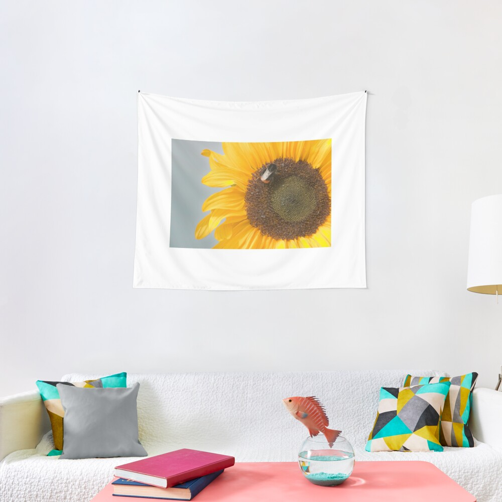 The Sunflower and the Bee Tapestry