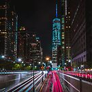 One World Trade Light Trails by TPRVisuals