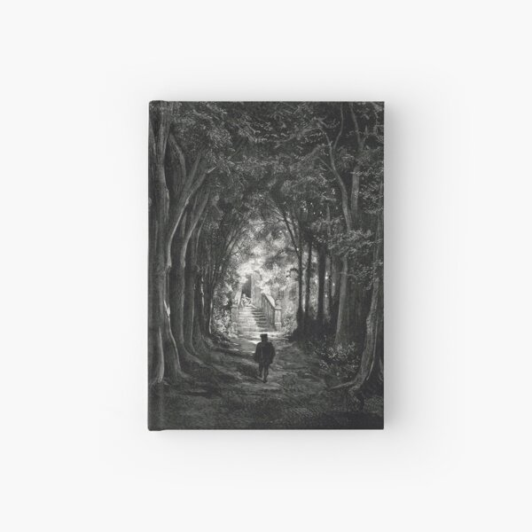 The Prince Approaches the Sleeping Castle - Gustave Dore Hardcover Journal