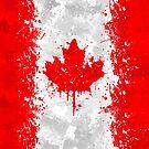 «Bandera de Canadá Acción Pintura - Grunge Desordenado» de Garyck Arntzen