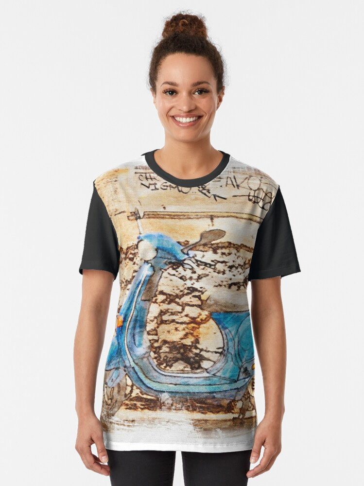 Alternate view of The Vespa Graphic T-Shirt