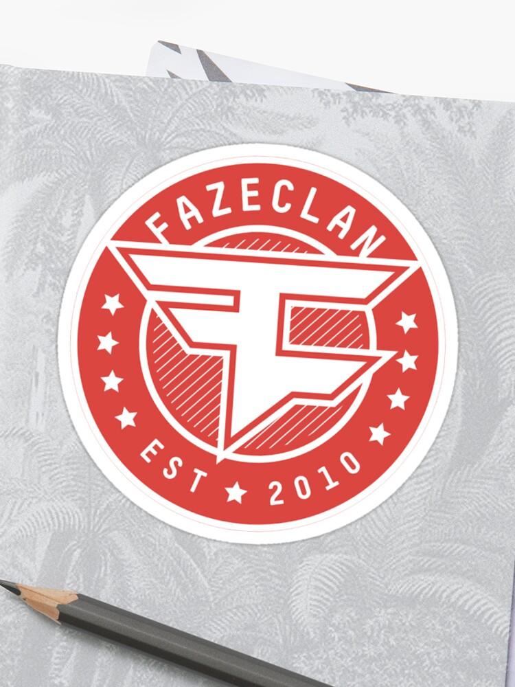 Faze Clan Circle Logo Sticker By F3dur1c0 Redbubble