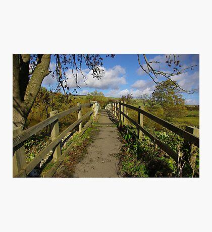 Footbridge to the Dales Photographic Print