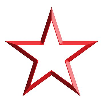 Red Star, STAR, RED, WHITE CENTRE, Stardom, Power to the people! Red Dwarf, Stellar, Cosmic by TOMSREDBUBBLE