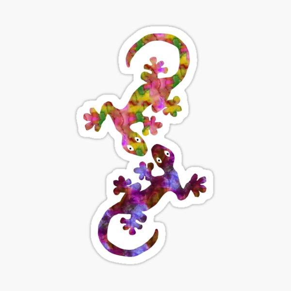 A Pair of Watercolor Geckos Sticker