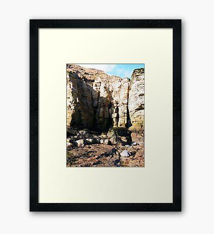 Cliff Face Framed Print