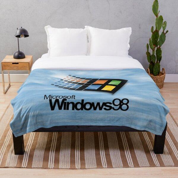 Windows 98 Start Screen Throw Blanket